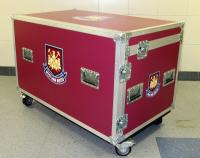 The West Ham United branded mobile flight case from the home players' physio room.