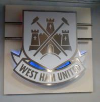 The wall mountable illuminated West Ham United crest from the West Ham United stadium store.