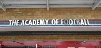 The wall mountable 'The Academy of Football' lettering originally sited above the main reception entrance of the Betway stand.