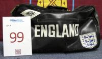 Martin Peters England Three Lions Umbro sports bag.