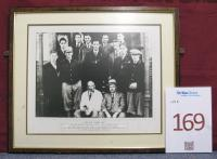 A framed picture of the West Ham United 1930 team.