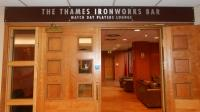 The Thames Ironworks Bar Matchday Players Lounge sign. Originally sited in the Betway Stand reception