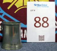"A Pewter tankard inscribed ""West Ham United FC, FA Cup Winners, Wembley 1964"", presented to G. Hurst by The East Ham and West Ham Councils'. West Ham United v Preston North End, Wembley 2nd May 1964, West Ham United winning the final 3-2 with goals from John Sissons, Geoff Hurst and Ronnie Boyce with Doug Holden and Alex Dawson scoring for Preston North End in replay."